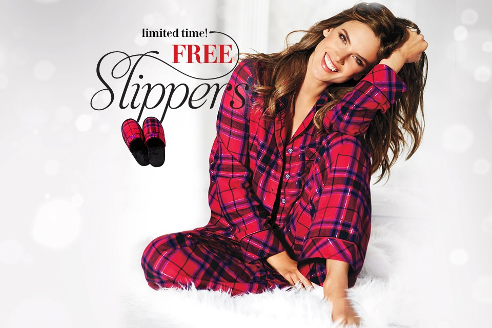 FREE Slippers with a PJ\'s Purchase at Victoria\'s Secret (Online Only ...
