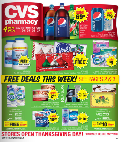 e454fdace4d3c CVS Weekly Ad Matchups 4 Day Sale for 11 24 thru 11 27