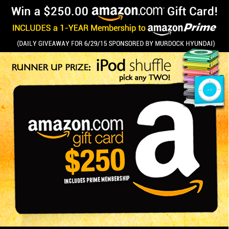 Enter to Win a $250 Amazon Gift Card or iPod Shuffle   Thrifty Momma