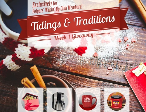 Folgers Wakin' Up Club Holiday Sweepstakes
