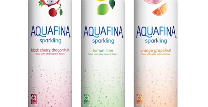 Aquafina Sparkling in Black Cherry Dragonfruit, Lemon Lime, and Orange Grapefruit flavors (PRNewsFoto/PepsiCo)