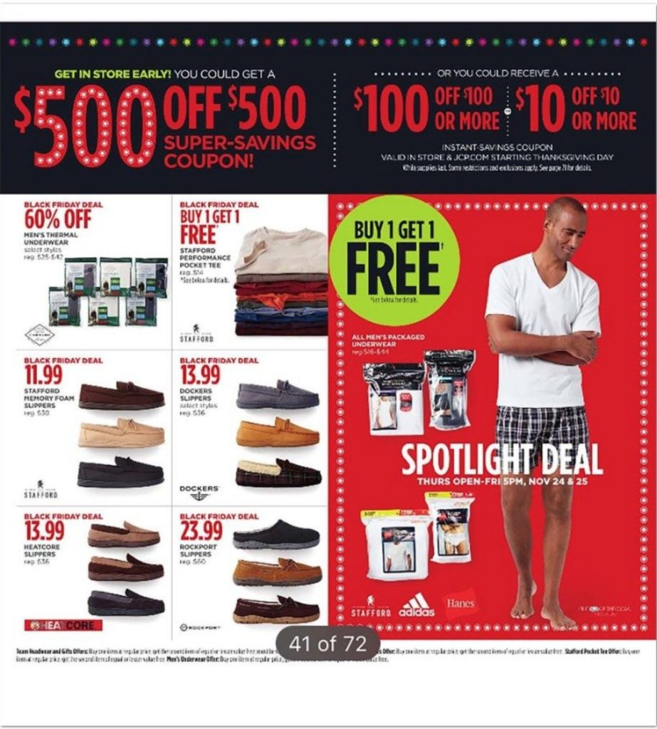 Jcpenney black friday for Jc penneys
