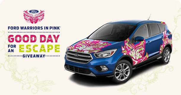 Enter The Ford Warriors In Pink Good Day For An Escape Giveaway Your Chance To Win A Brand New 2017 No Purchase Necessary