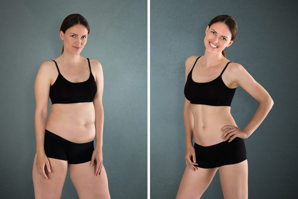before and after pictures of fit woman