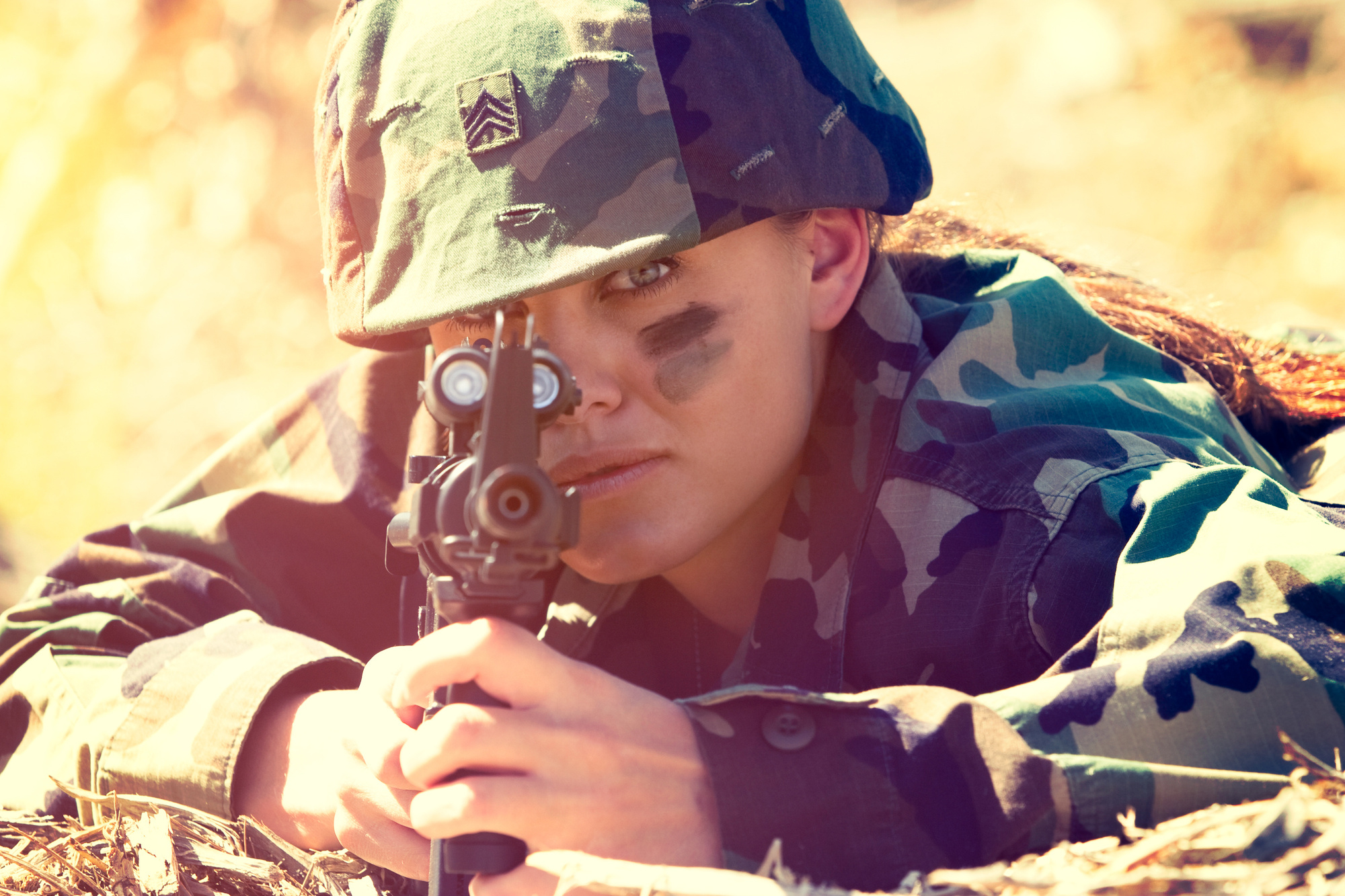 girl in the military
