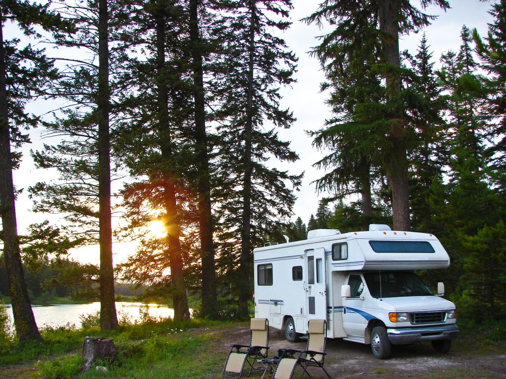 RV in campground