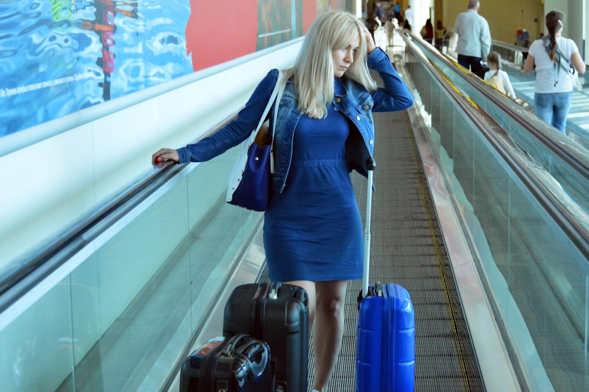woman with travel anxiety