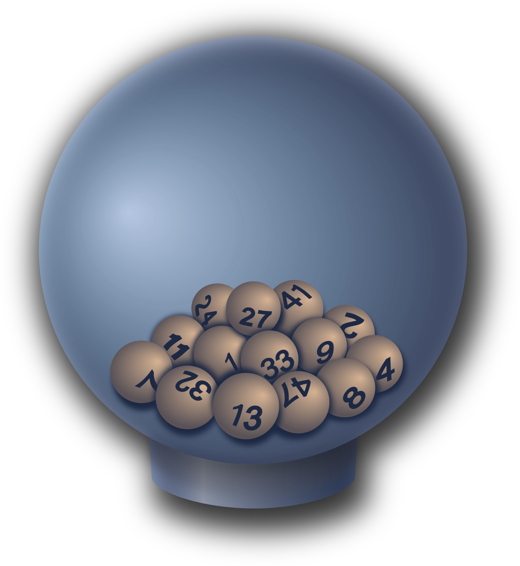 lottery balls on transparent background