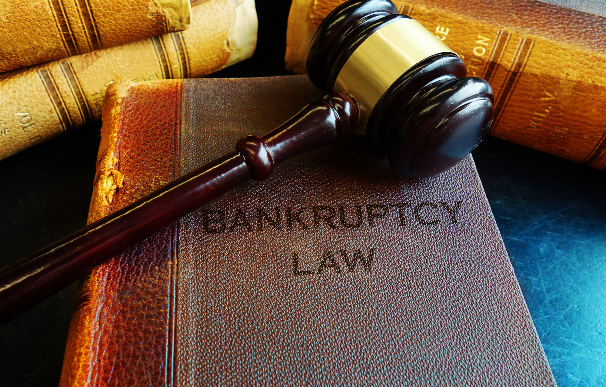 Book on Bankruptcy Law and a Gavel