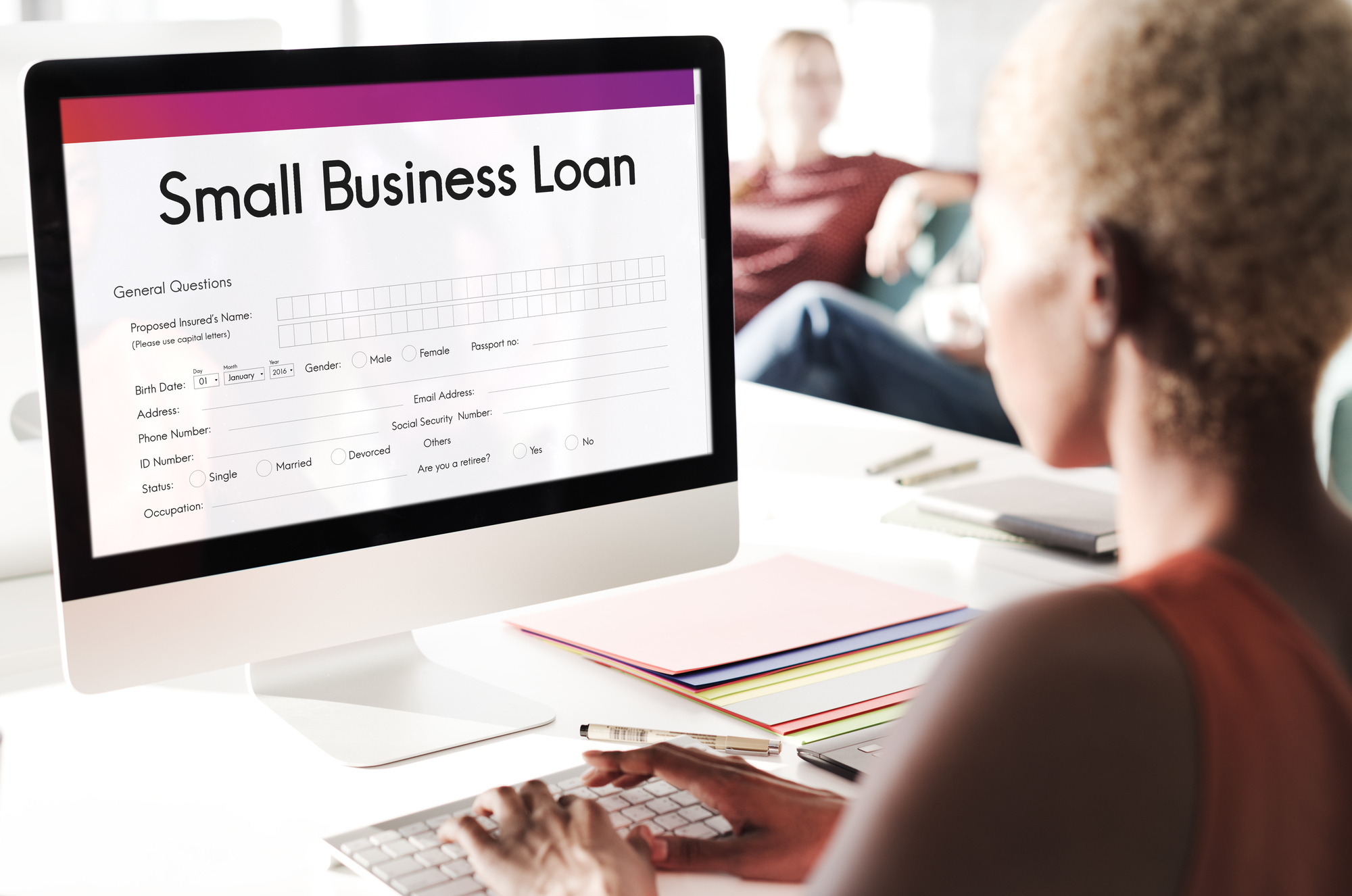 Person Applying for a Small Business Loan