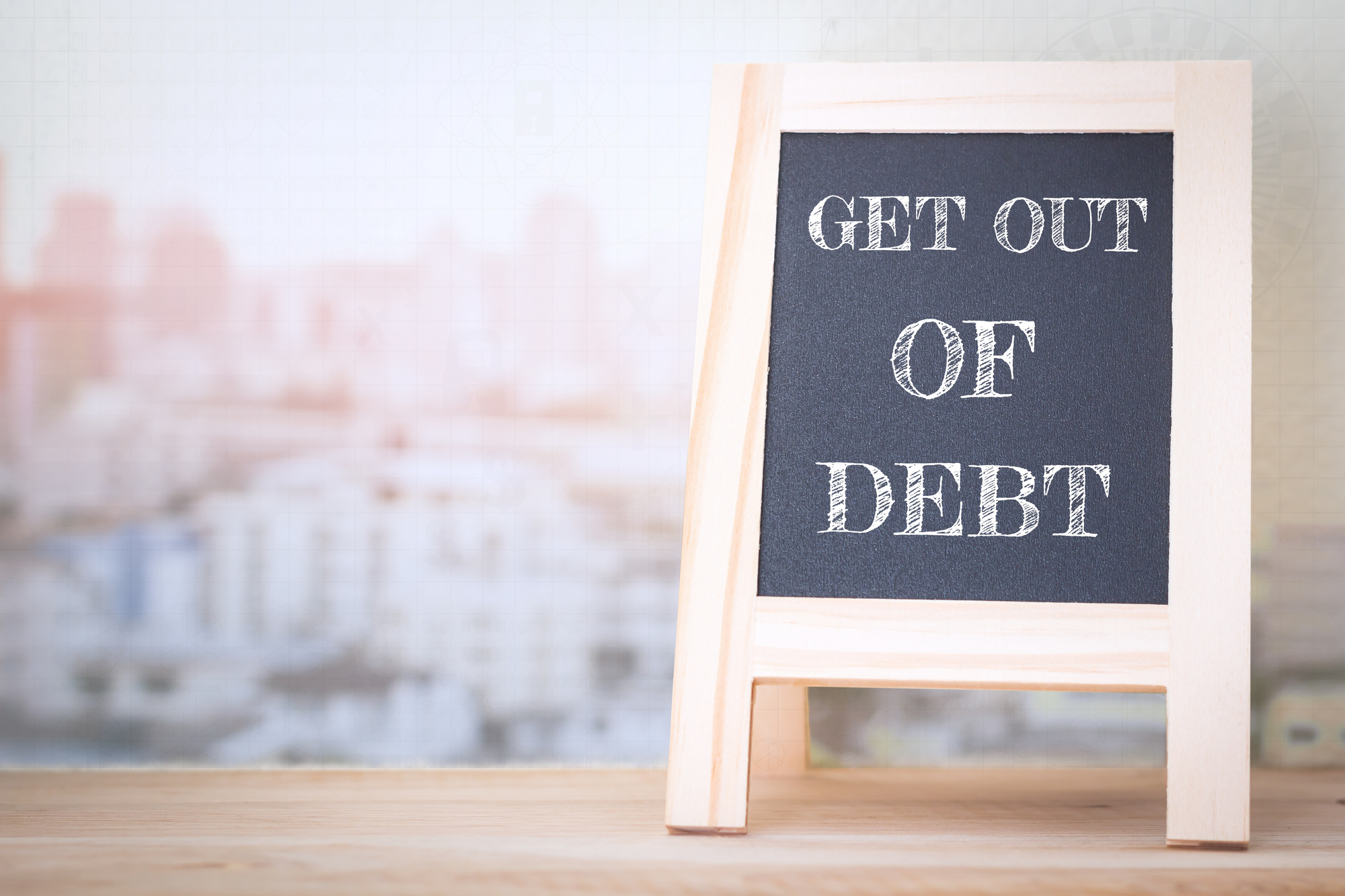 Getting Out of Debt Sign